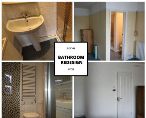 Ensuite Bathroom before and after