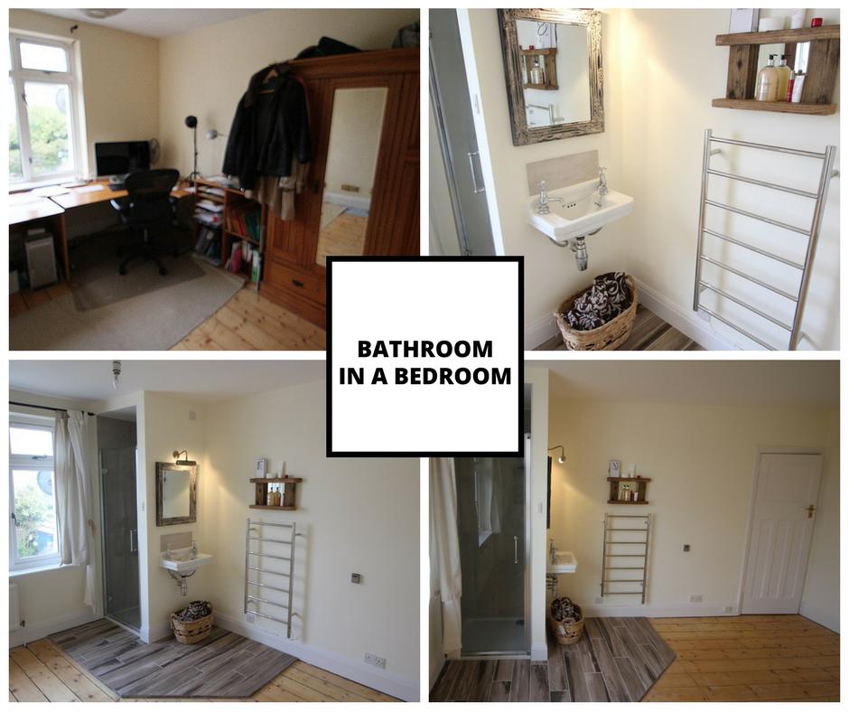 Bathroom in a bedroom