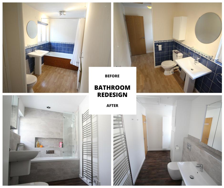 Bathroom design Bristol before and after