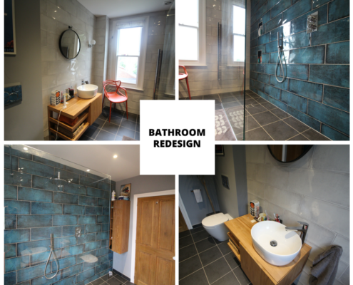 Bathroom redesign after