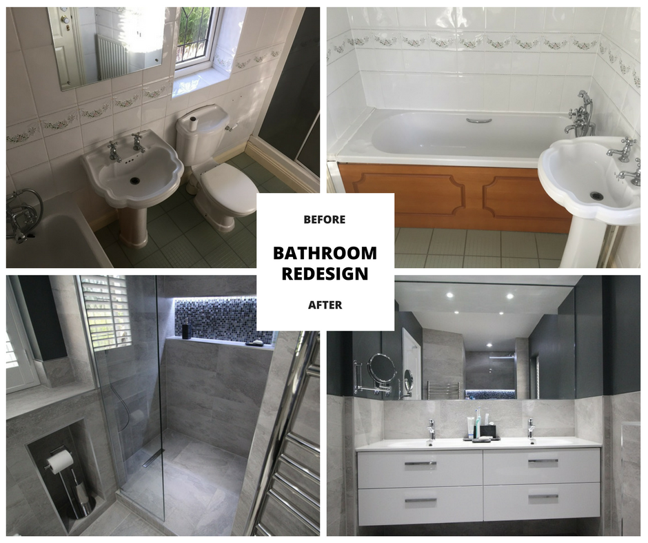Bathroom design before and after