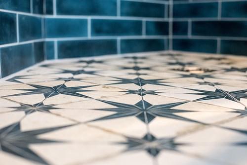 Star tiled floor