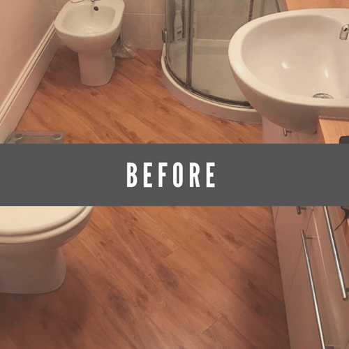 before bathroom redesign
