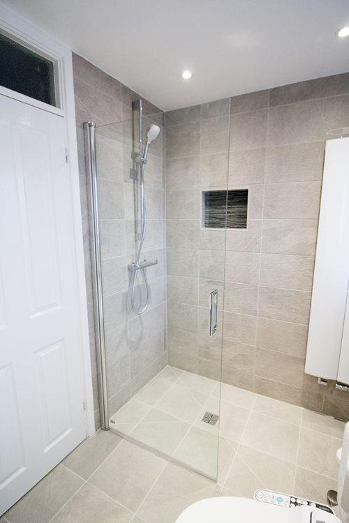 shower door folded away